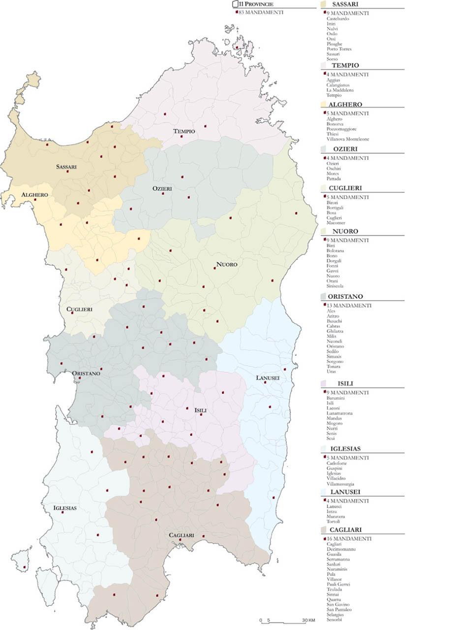 Cartina Sardegna Jerzu.Jerzu
