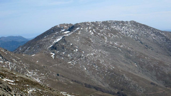 The summit of Punta La Marmora, seen from Bruncu Spina